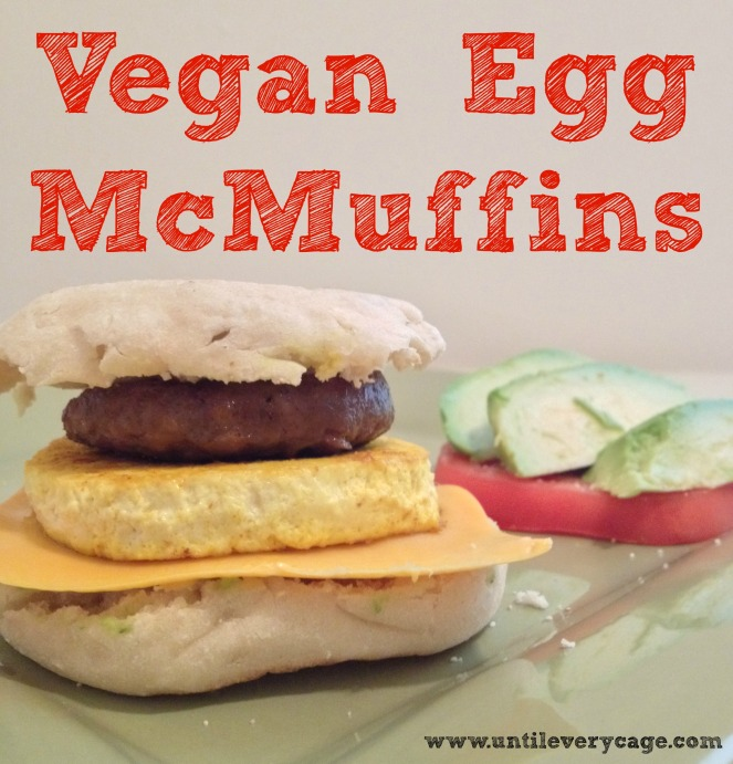 vegan egg mcmuffin text