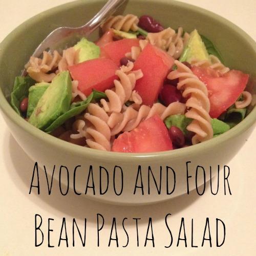 avo bean pasta salad