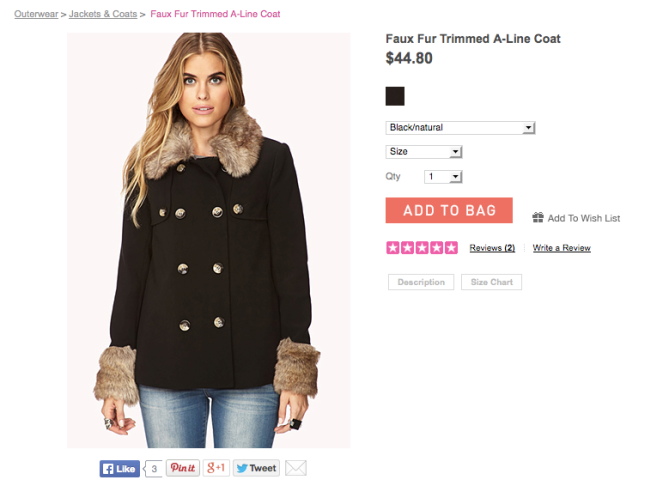 forever 21 womens coat