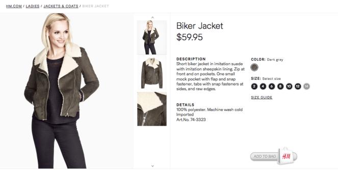 HM womens coat