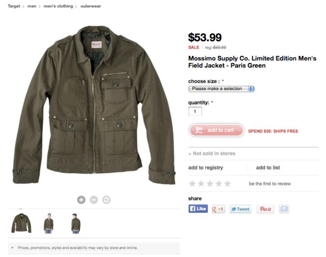 mens target coat