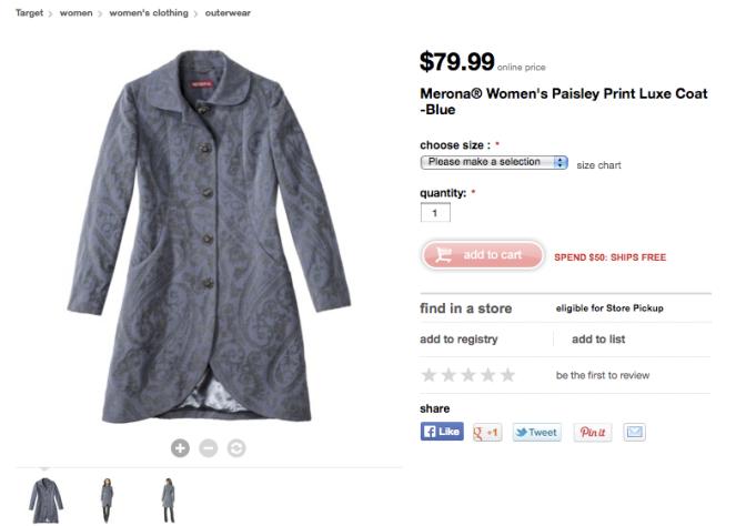 target womens coat