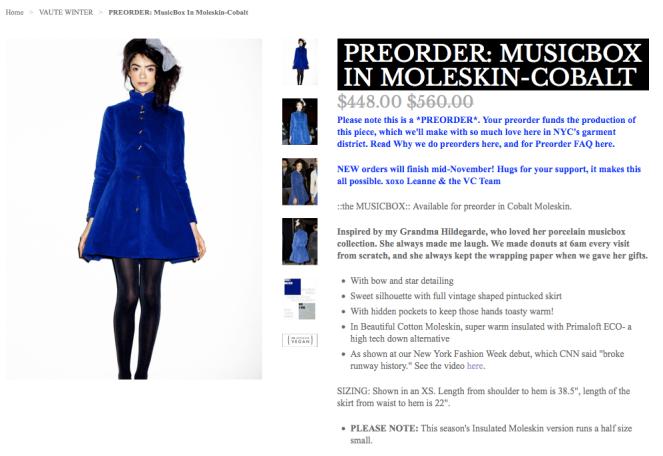 vaute womens coat